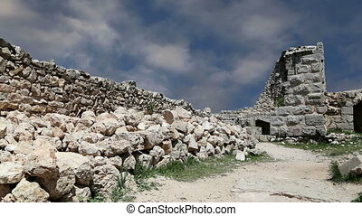 The ayyubid castle of Ajloun in northern Jordan, built in...