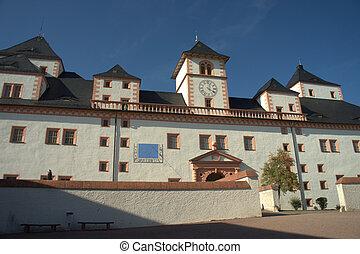 The back of Augustusburg Castle in Saxony