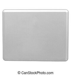 The back of the Tablet PC - Isolated on white background of...