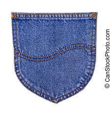 the back pocket of jeans