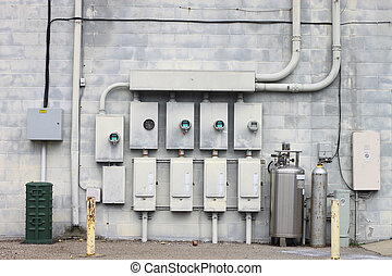 The back wall of a large coalition of businesses and the...