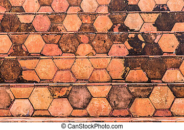 The background image of the orange clay tiles is used as an illustration