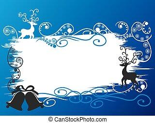 Christmas holiday deer banner card