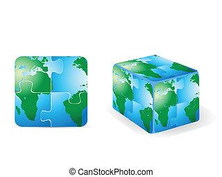 square puzzle earth