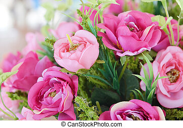 The background of the beautiful flowers in colorful