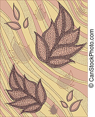 The background of the leaves, wallpapers, flora