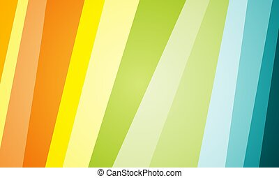 The background of the oblique stripes in yellow orange green blue design