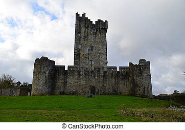 The Backside of Ross Castle in Killarney Ireland