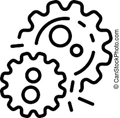 The bacterium multiplies icon, outline style - The bacterium...