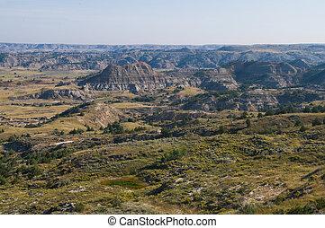 Badlands - The Badlands, Theodore Roosevelt National Park, ...