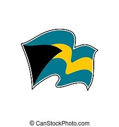 The Bahamas national flag. Vector illustration. Nassau