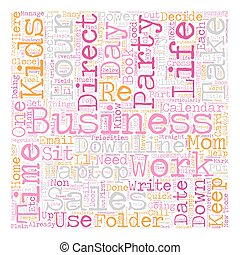 The Balanced Direct Sales Mom text background wordcloud...