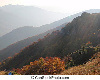 The Balkan mountain (Stara Planina) in autumn