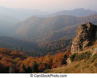 The Balkan mountain (Stara Planina) in autumn