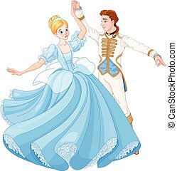 The Ball Dance of Cinderella and Prince - The royal ball...
