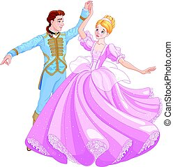 The Ball Dance of Cinderella and Prince - The royal ball...