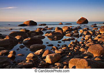 The Baltic Sea coast at Lohme on Ruegen (Germany).