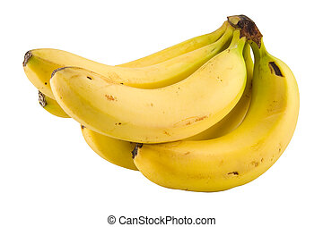 banana bundle - the banana bundle isolated with clipping ...