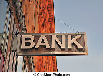The bank sign