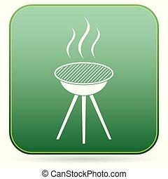 The barbecue icon - Barbecue grill icon. Vector illustration