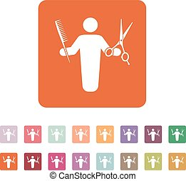 The barber avatar icon. Barbershop and hairdresser,...
