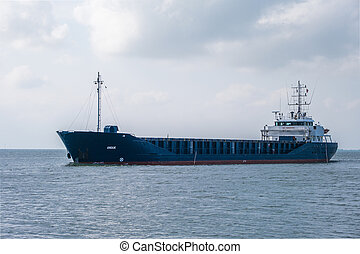 The barge is heading to the port for loading in the North Sea