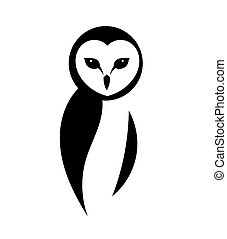 The barn owl logo design.