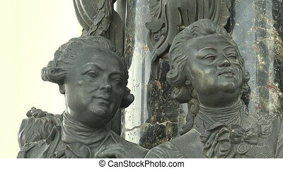 The bas-relief of the monument to Catherine II