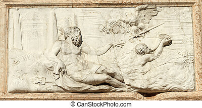 The bas-relief with Jupiter