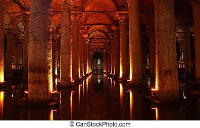 The Basilica Cistern (turkish Yerebatan Sarnici) in Istanbul, Turkey