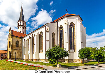 The Basilica of St. James in Levoca town, Slovakia, Europe.