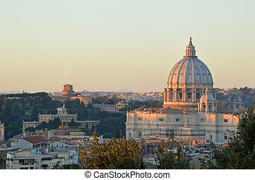 The Basilica of St. Peter view from the Gianicolo - Rome - A...
