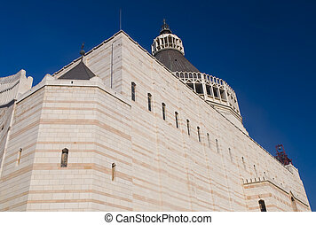 The Basilica of the Annunciation in Nazareth Israel