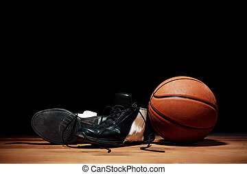 The basketball equipment - Basketball equipment - ball and...