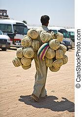 The baskets seller