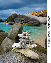 The famous Baths on Virgin Gorda, British Virgin Islands