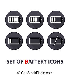 The battery icons