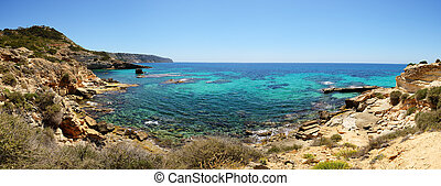 The bay and turquoise water on Mallorca island, Spain