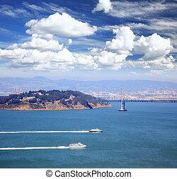 The bay bridge in San Francisco