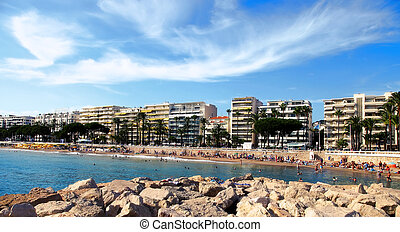 The beach in Cannes