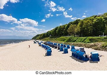 The beach in Koserow on the island Usedom, Germany