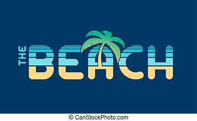 The Beach nautical banner writing
