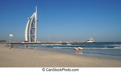 The beach near Burj Al Arab