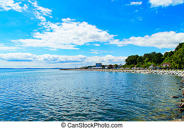The Beach of Sassnitz at the Baltic Sea