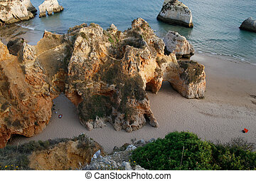 The beach on Algarve coast