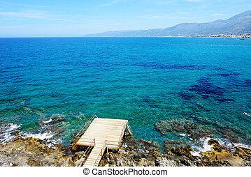 The beach on Crete island, Greece