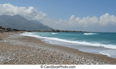 The beach on Ionian Sea at luxury h