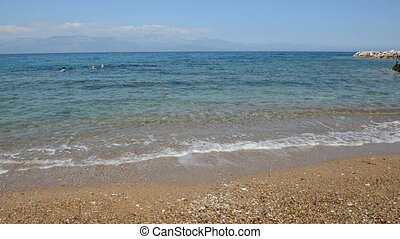 The beach on Ionian Sea
