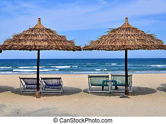 The beach scene, Vietnam