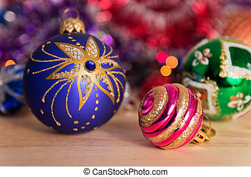 The beads and tinsel